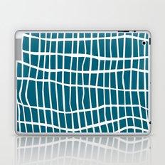 Net White on Blue Laptop & iPad Skin