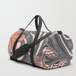 Polynesian Pink Tribal Print Duffle Bag