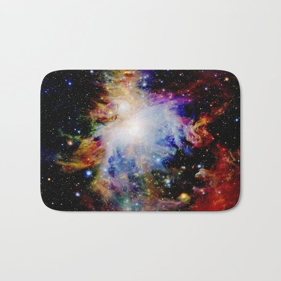 GaLaXY : Orion Nebula Dark & Colorful Bath Mat