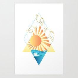 Geometric Seascape Art Print