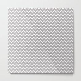 Grey Gray Chevron Metal Print