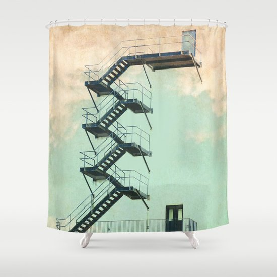 Stairway to the Clouds Shower Curtain