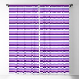 Eyecatching Plum, Indigo, White & Purple Lines/Stripes Pattern Blackout Curtain