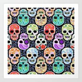 Calaveras_ Sugar Skulls_Celebracion del Color_RobinPickens Art Print