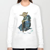yoda Long Sleeve T-shirts featuring Yoda by pabpaint