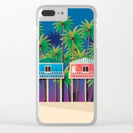 Palolem Beach Huts Clear iPhone Case