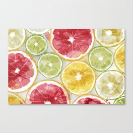 Citrus Splash Canvas Print
