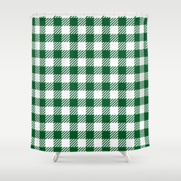 Green Vichy Shower Curtain