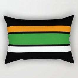 Team Colors 2,,,,orange,green Rectangular Pillow