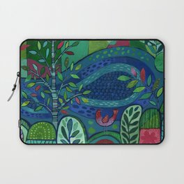Bird by the Pond Laptop Sleeve