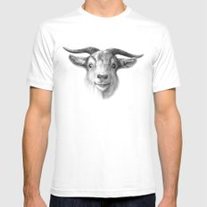 Curious Goat G124 MEDIUM Mens Fitted Tee White