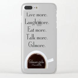Gilmore Girls A Year in the Life Clear iPhone Case
