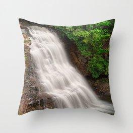 Muddy Creek Falls Throw Pillow