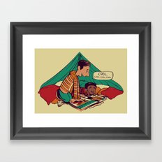 Troy & Abed's Dope Adventures Framed Art Print