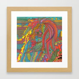 "WIIP™,""Rose India"" (2014) Framed Art Print"