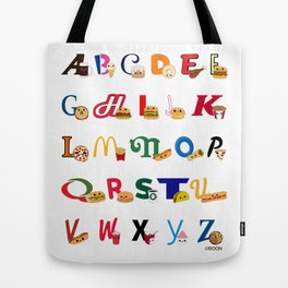 Fast Food Alphabet Tote Bag