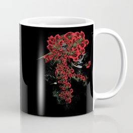 Rose skull girl Coffee Mug