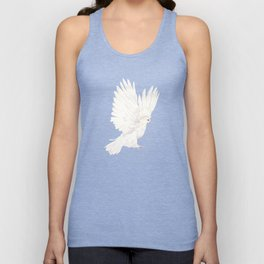 Dove in White Unisex Tank Top
