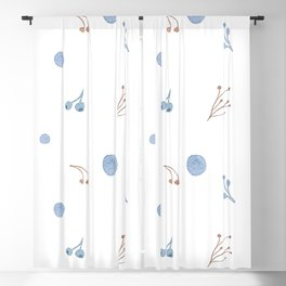 Pretty Little Floral Pattern Blackout Curtain