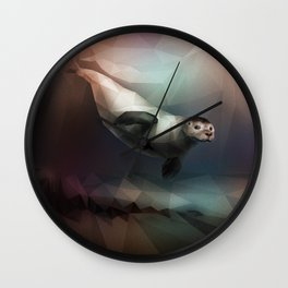 Seal (Low Poly Multi I) Wall Clock