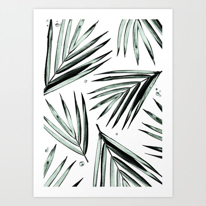 Palm Leaves Pattern #2 Art Print