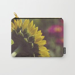 Dramatic Backside of Sunflower Botanical / Floral / Nature Photograph Carry-All Pouch
