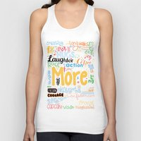 motivational Tank Tops featuring Lab No. 4 - More Motivational Quotes Poster by Lab No. 4