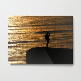Sea of light Metal Print