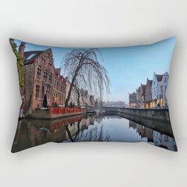 Belgium, City Canal 5 Rectangular Pillow