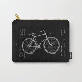Vintage Bicycle Patent Black Carry-All Pouch