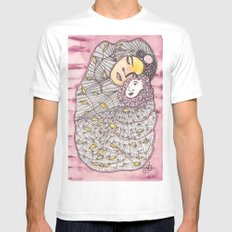 Mother and Child MEDIUM White Mens Fitted Tee