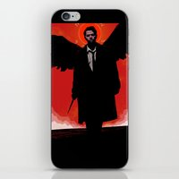 castiel iPhone & iPod Skins featuring Castiel by Duke Dastardly