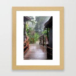 Rainstorm, Negril, Jamaica Framed Art Print