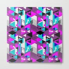 High Heels Geometric Pattern Metal Print