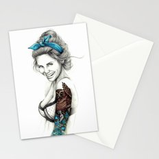 tattoo girl 2 Stationery Cards