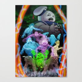Bustin' Ghosts Canvas Print