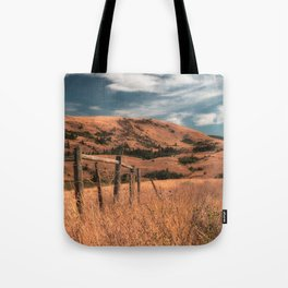 Cattle Fence in the Desert Tote Bag