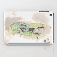 t rex iPad Cases featuring T-Rex by BijanSouri