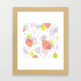 Blotchy Pattern Framed Art Print