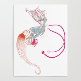 Robot Seahorse Poster
