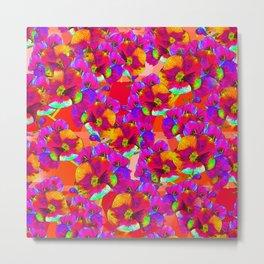 Flowers 2 - Fuchsia Metal Print