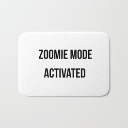Zoomie Mode Activated Design Bath Mat