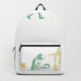 "Golfing Shirt For Golfers Saying ""Evolution Of Golf"" T-shirt Design Field Swing Hole Flag Evolve Backpack"