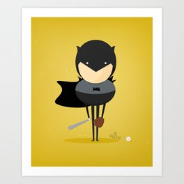 Bat man: My baseball hero! Art Print