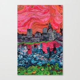 """Saucy Cityscape 1"" by Jordan Halstead Canvas Print"