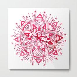 Mandala - Pink Watercolor Metal Print