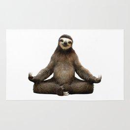 Sloth Yoga Art Print Rug