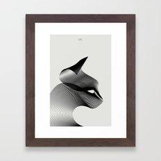 Animals in Moiré | Cat Framed Art Print