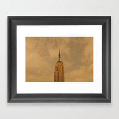 Empire State Isolation (for devices) Framed Art Print