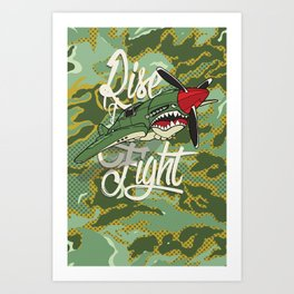 Rise and Fight Art Print
